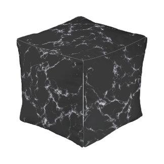 Pouf D'extérieur Marbre élégant style4 - noir et blanc