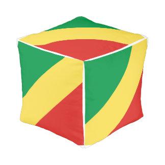 Pouf Drapeau de Congo-Brazzaville