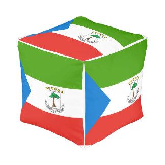 Pouf Drapeau de Guinée équatoriale