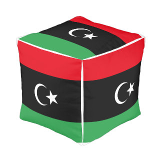 Pouf Drapeau de la Libye