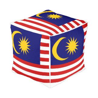 Pouf Drapeau de la Malaisie