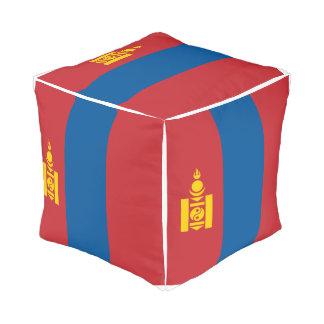 Pouf Drapeau de la Mongolie