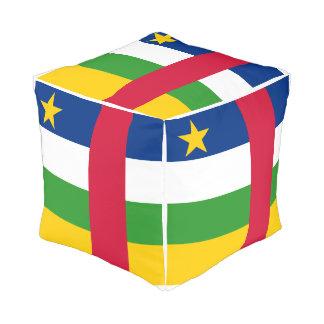 Pouf Drapeau de la République centrafricaine