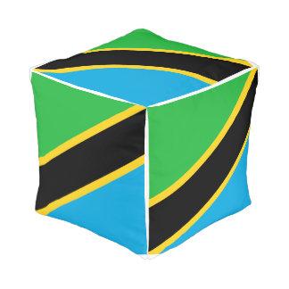 Pouf Drapeau de la Tanzanie
