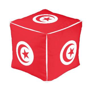 Pouf Drapeau de la Tunisie