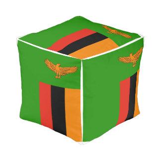 Pouf Drapeau de la Zambie