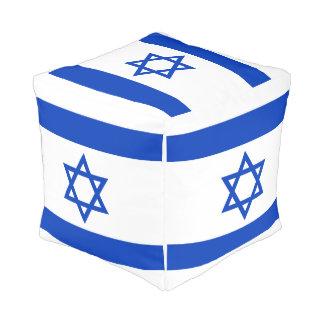 Pouf Drapeau de l'Israël