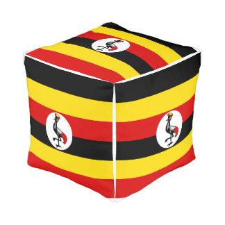Pouf Drapeau de l'Ouganda