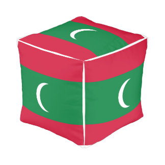 Pouf Drapeau des Maldives