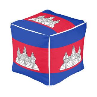 Pouf Drapeau du Cambodge
