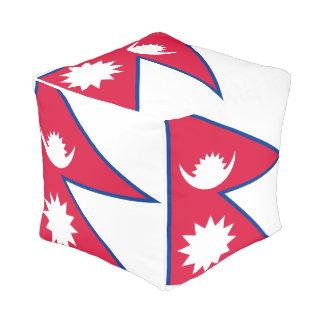 Pouf Drapeau du Népal