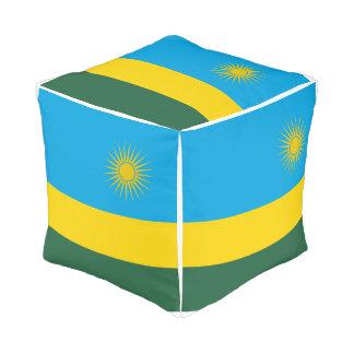 Pouf Drapeau du Rwanda