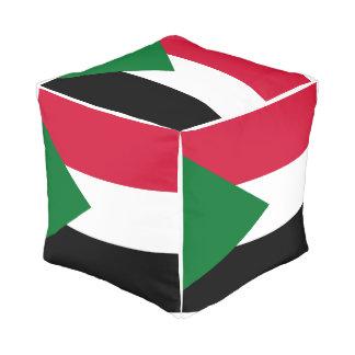 Pouf Drapeau du Soudan