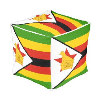 Pouf Drapeau du Zimbabwe