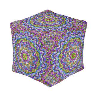 Pouf Kaléidoscope multicolore