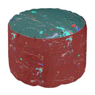 Pouf La peinture d'art abstrait éclabousse et des