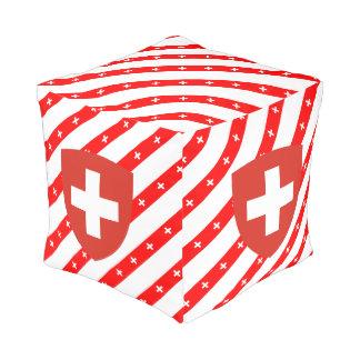 Pouf Le Suisse barre le drapeau