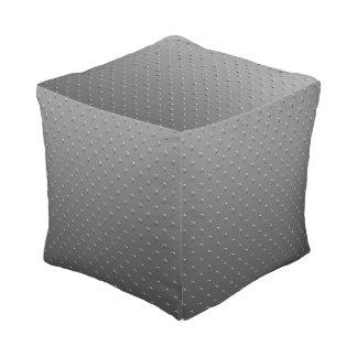 Pouf Métal de Faux de gris argenté de gradient