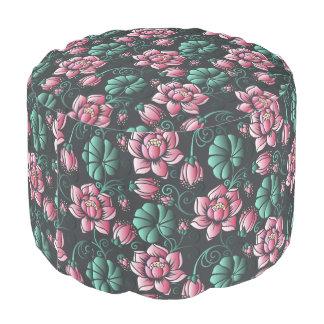 Pouf Motif floral élégant de motif rose de Lotus