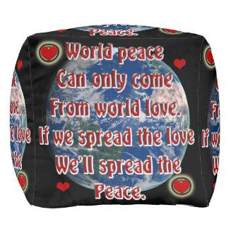 Pouf Paix du monde