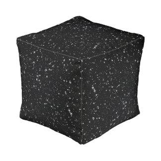 Pouf Parties scintillantes Stars2 - Noir argenté