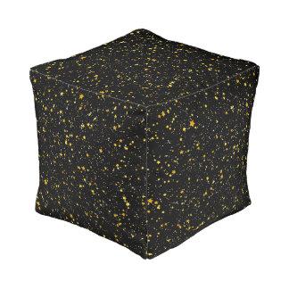 Pouf Parties scintillantes Stars3 - Noir d'or
