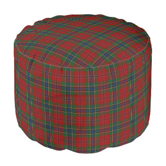 Pouf Tartan MacLean moderne écossais de Maclean de