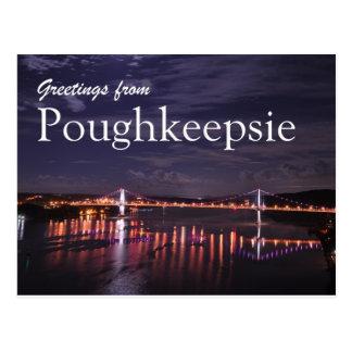 Poughkeepsie la nuit carte postale