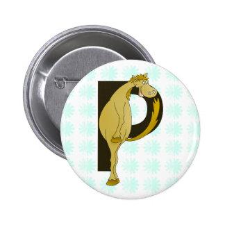 Poulain flexible du monogramme P personnalisé Badge