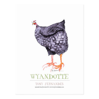 POULE de WYANDOTTE, fernandes élégants Cartes Postales