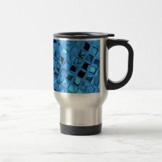 Poule mouillée bleue Girly métallique brillante de Mug De Voyage En Acier Inoxydable