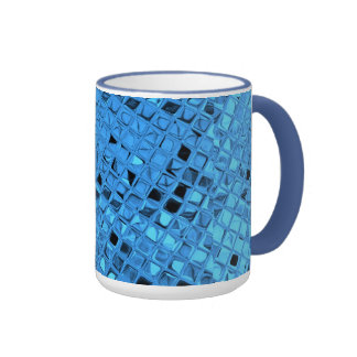 Poule mouillée bleue Girly métallique brillante de Mug Ringer