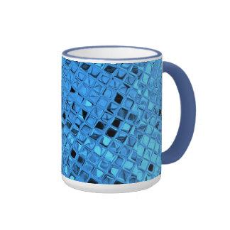 Poule mouillée bleue Girly métallique brillante de Tasse