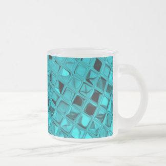 Poule mouillée impertinente de diamant turquoise mug en verre givré