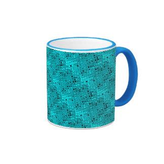 Poule mouillée impertinente de diamant turquoise mug ringer