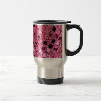 Poule mouillée rose Girly métallique brillante de Mug De Voyage