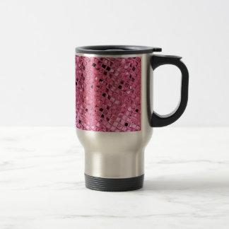 Poule mouillée rose Girly métallique brillante de Tasse À Café