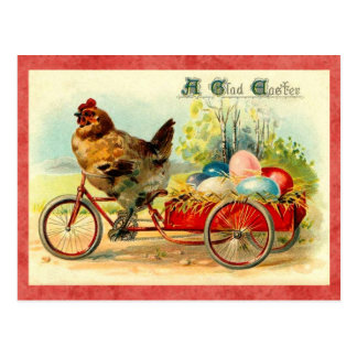 Poule vintage de Pâques Carte Postale