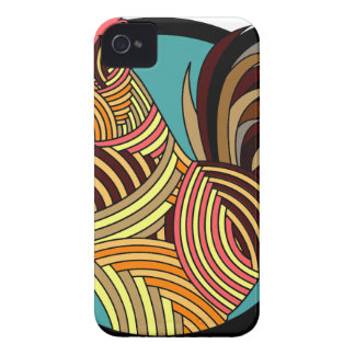 poulet abstrait coque Case-Mate iPhone 4