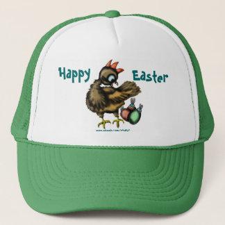 Poulet de Pâques et casquette drôles de lapins
