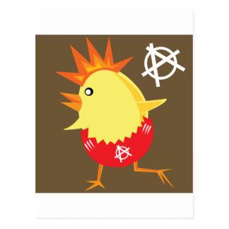 Poulet de punk rock carte postale