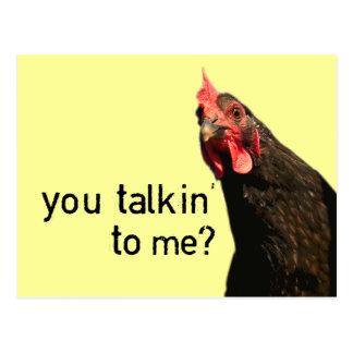 Poulet drôle d'attitude - vous talkin à moi ? cartes postales