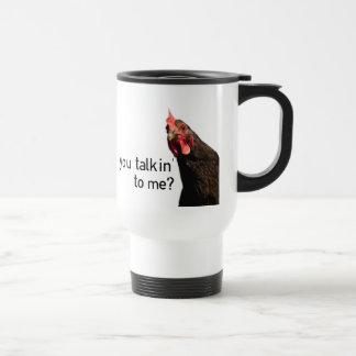 Poulet drôle d'attitude - vous talkin à moi ? mug