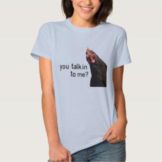 Poulet drôle d'attitude - vous talkin à moi ? t-shirt