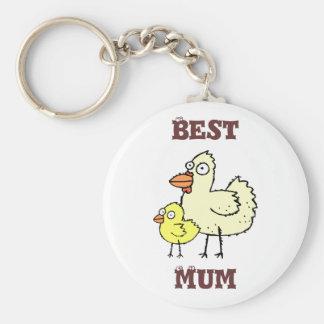 Poulet génial de ferme + La meilleure maman de Porte-clé Rond