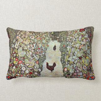 Poulets du chemin W de jardin, Gustav Klimt, art Coussin Rectangle