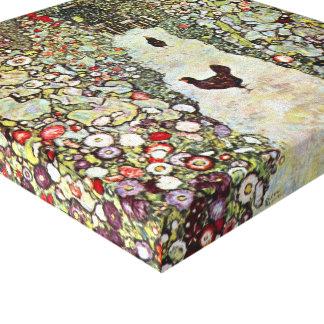 Poulets du chemin W de jardin, Gustav Klimt, art Toiles