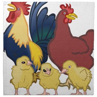 poulets serviette en tissu