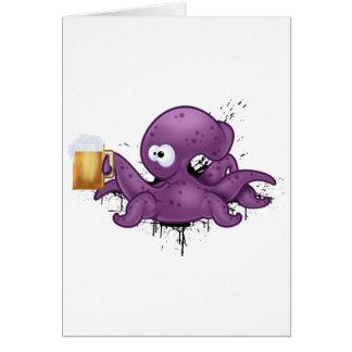 Poulpe alcoolique carte de vœux