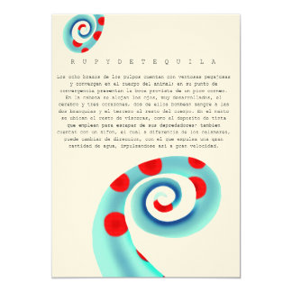 Poulpe Carton D'invitation 12,7 Cm X 17,78 Cm